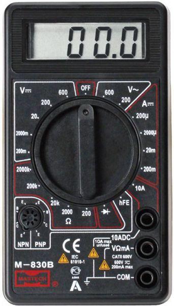 Мультиметр M830B предназначен для контроля постоянного и переменного напряжения, постоянного тока, сопротивления...